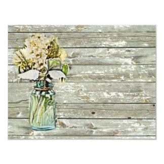 elegant mason jar floral vintage birthday party card