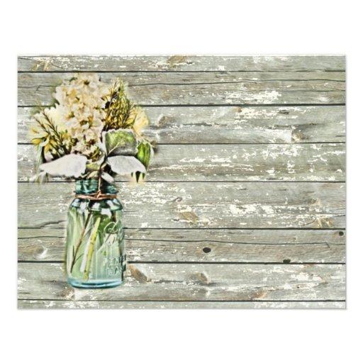 elegant mason jar floral vintage birthday party custom invite