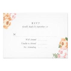 Elegant Mason Jar RSVP Card