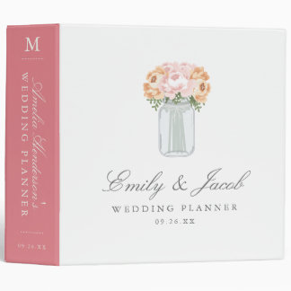 Elegant Mason Jar Wedding Binder
