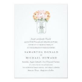 Elegant Mason Jar Wedding Invitations 5