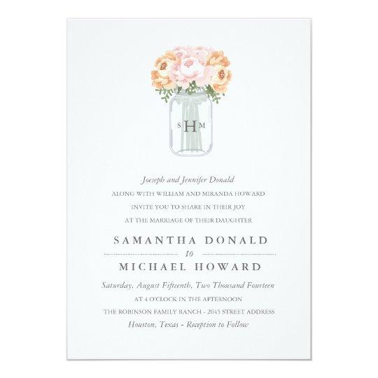 Wedding Invitations Mason Jar: Elegant Mason Jar Wedding Invitations