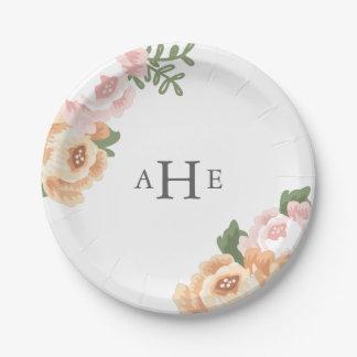 Elegant Mason Jar Wedding 7 Inch Paper Plate