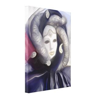 Elegant Masquerade Lady - Masquerade Canvas Print