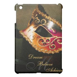Elegant Masquerade Mask Monogram  iPad Mini Cover