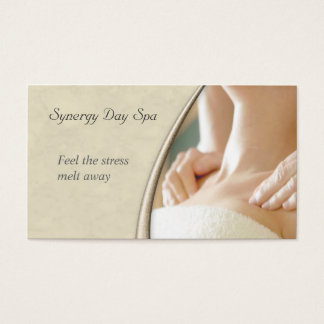 Elegant Massage Therapy Business Card