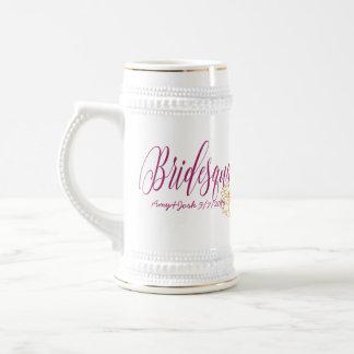 Elegant Mauve Bridesmaid Gear - Bridesquad Beer Stein