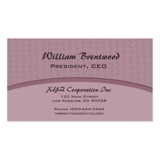 elegant mauve curve business card