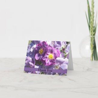 Elegant Mauve Roses card