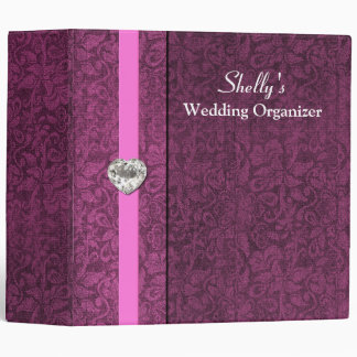 Elegant Mauve Wedding Organizer Binder