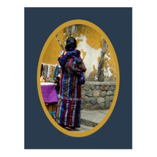 Elegant Mayan Woman Postcard