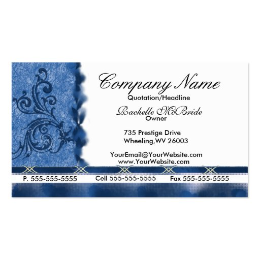 Embroidery business card templates bizcardstudio elegant med blue embroidery business cards colourmoves