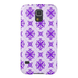 Elegant Medallion Pattern Purple Case For Galaxy S5