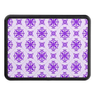 Elegant Medallion Pattern Purple Hitch Cover