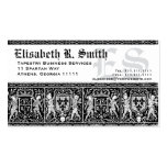 Elegant Medieval Embroidery Romantic Pattern Business Card