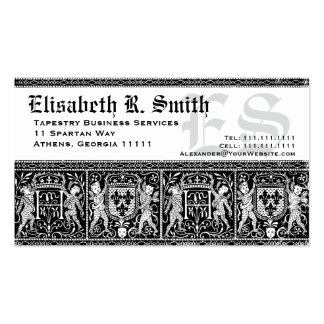 Elegant Medieval Embroidery Romantic Pattern Double-Sided Standard Business Cards (Pack Of 100)