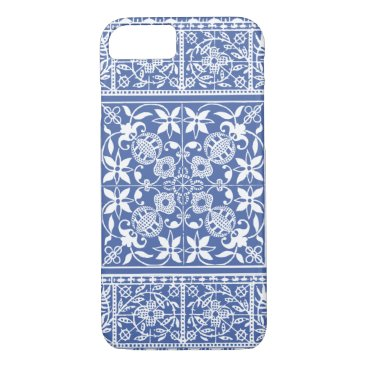 antiqueimages Elegant Medieval French Lace Blue and White iPhone 7 Case