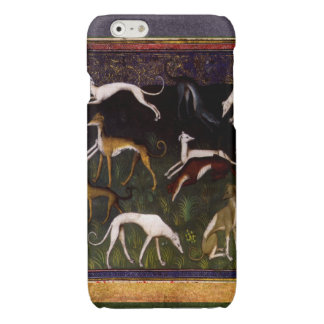 Elegant Medieval Greyhounds in the Deep Forest Glossy iPhone 6 Case