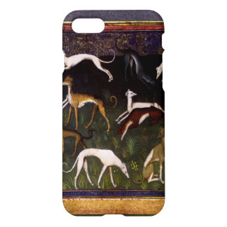 Elegant Medieval Greyhounds in the Deep Forest iPhone 8/7 Case