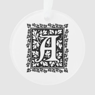 elegant medieval illuminated manuscript letter a ornament