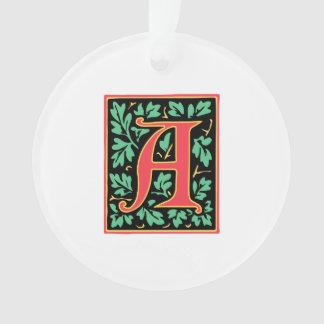 Elegant Medieval Letter A Antique Monogram