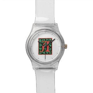 Elegant Medieval Letter A Antique Monogram Watches