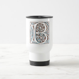 Elegant Medieval Letter B Antique Monogram 15 Oz Stainless Steel Travel Mug