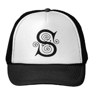 Elegant Medieval Letter S Antique Monogram Trucker Hat