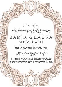 Henna Party Invitations Zazzle