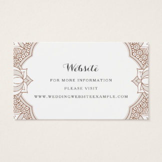 Elegant Mehndi Website Cards