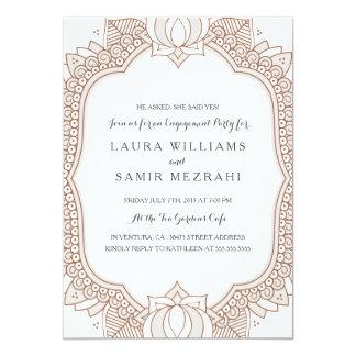 Mehndi invitations announcements zazzle elegant mehndi wedding engagement party card stopboris Choice Image