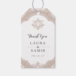 Elegant Mehndi Wedding Gift Tags