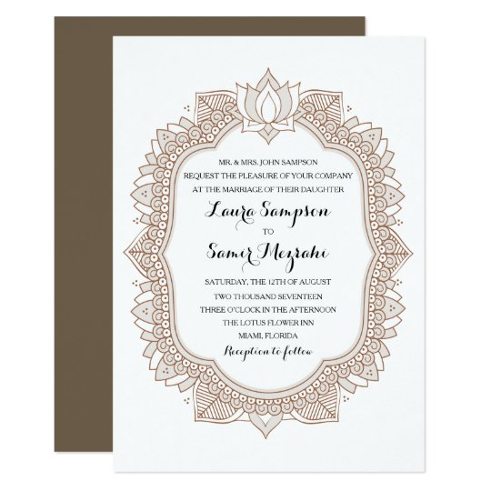 Elegant Mehndi Wedding Invitation