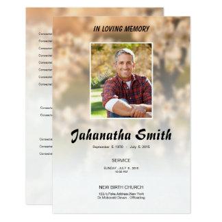 Elegant Memorial Funeral Program Card