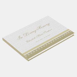Elegant Memorial or Funeral Guest Book