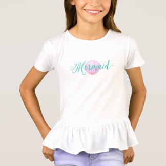 Elegant Mermaid in Turquoise - pink purple shell T-Shirt