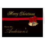 Elegant Merry Christmas Greeting Card