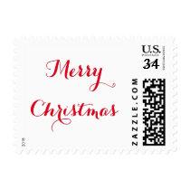 Elegant Merry Christmas Greetings US Postage Stamp