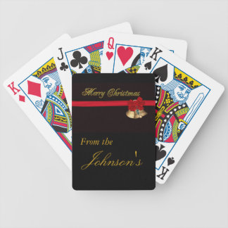 Elegant Merry Christmas Bicycle Playing Cards