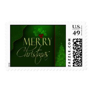 Elegant Merry Christmas Stamps