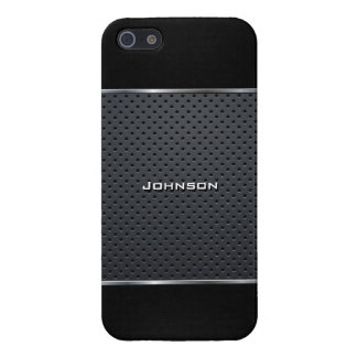 Elegant Mesh with Black Leather at Top & Bottom | Case For iPhone SE/5/5s