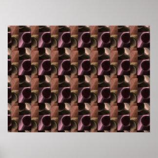 Elegant metal scrap patterns -  an EYE for ART Poster
