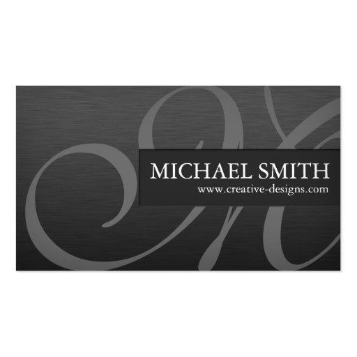 Elegant Metallic Business Card