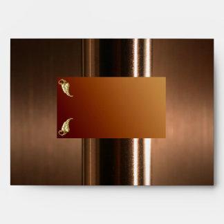 Elegant Metallic COPPER Greeting Card Envelope