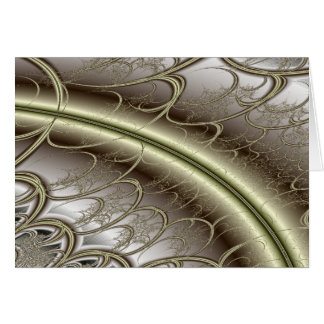 Elegant Metallic Fractal Card