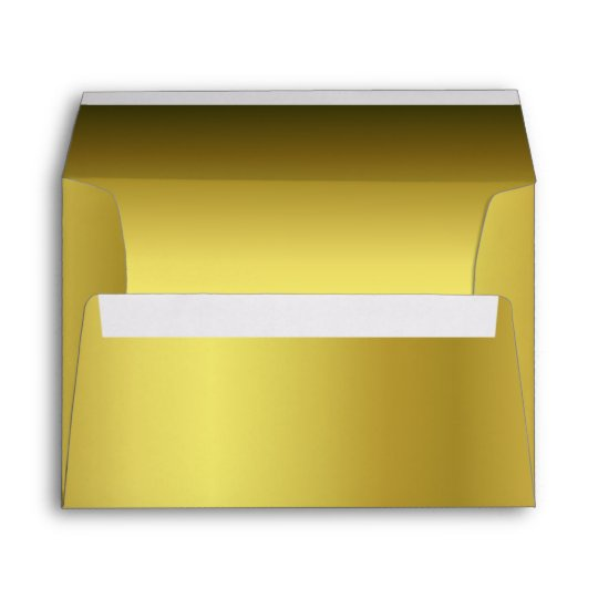 elegant metallic gold 5 x 7 invitation envelope zazzle com