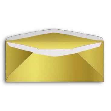 Professional Business Elegant Metallic Gold Business Envelope