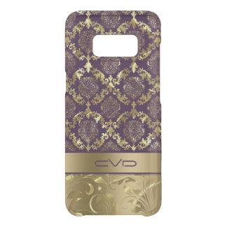 Elegant Metallic Gold & Purple Floral Lace Pattern Uncommon Samsung Galaxy S8 Case
