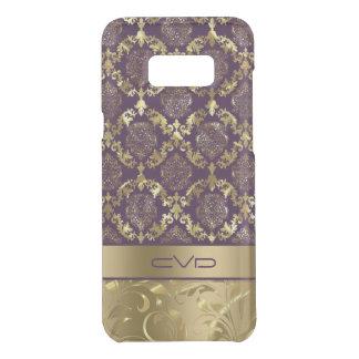 Elegant Metallic Gold & Purple Floral Lace Pattern Uncommon Samsung Galaxy S8+ Case