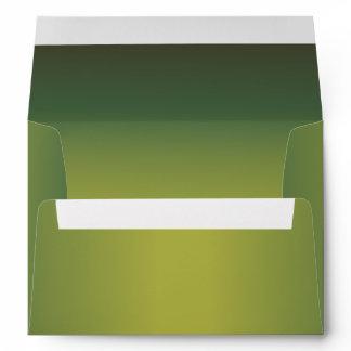 Elegant Metallic Green 5 x 7 Invitation Envelope